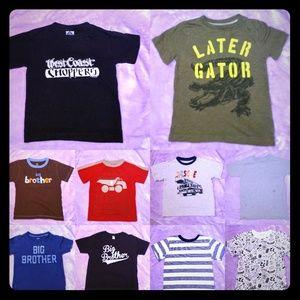 👕 10 Boy's Short Sleeve Shirts Size 4T 👕